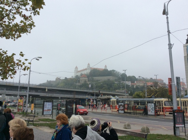 We could see the Castle up on the hill from the street (10-27-14)