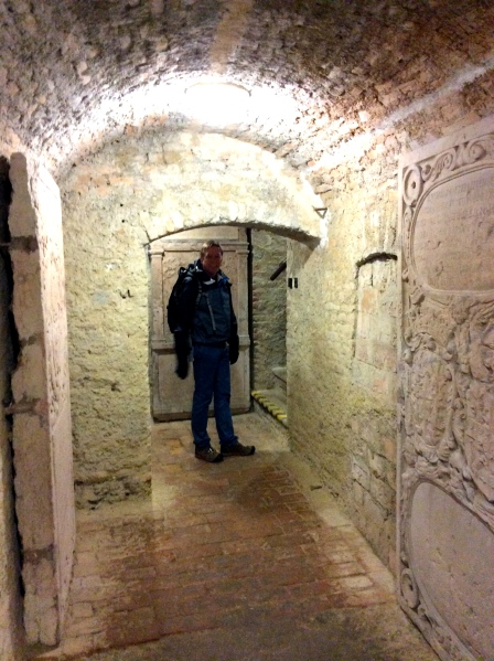 Bill ready to climb back out of the crypts (10-27-14)