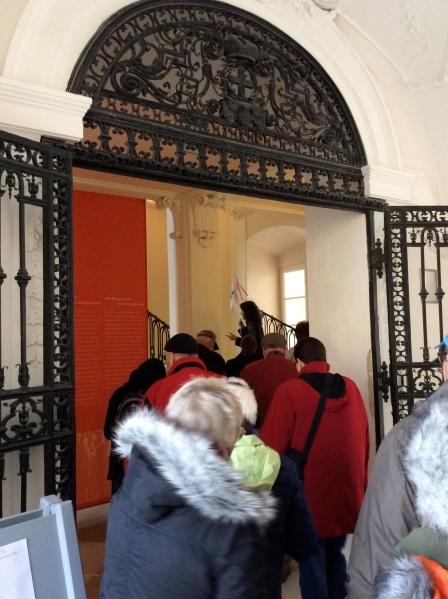 Entering the palace behind Dan & Jan, (10-27-14)