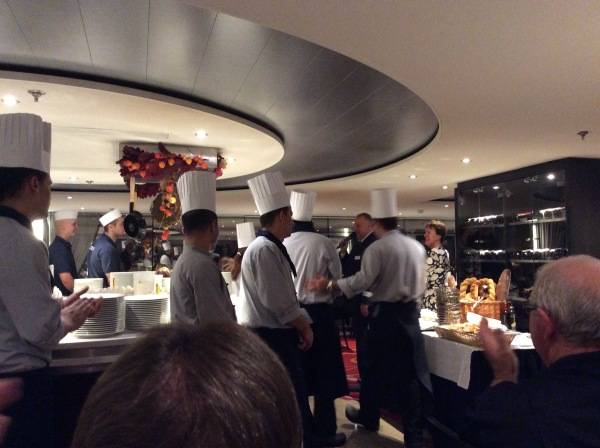 The chef coming out of the kitchen to lots of applause (10-27-14)