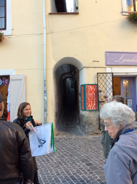 Our tour guide in Szentendre (10-28-14)