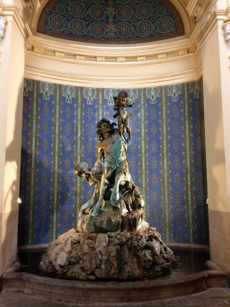 Sculpture inside the Baths building (10-30-14)