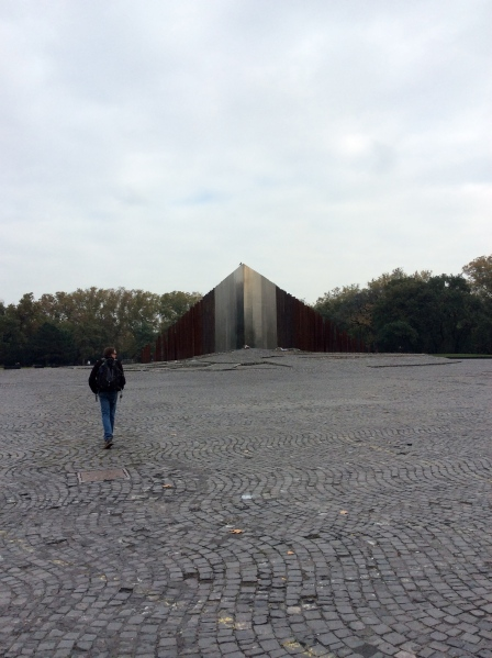 Bill approaching the Monument to the Uprising (10-30-14)
