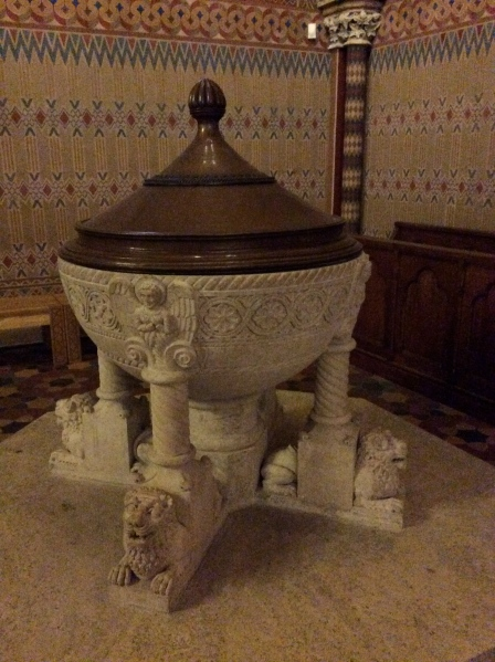 Baptismal font (10-30-14)