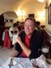 Bill at the Tárnok Café, drinking his Soproni (10-31-14)