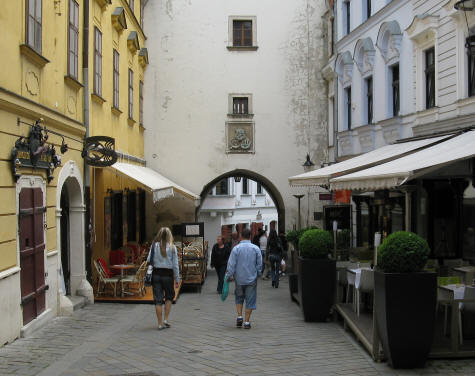 St. Michael's Gate showing gateway (photo from slovakrepublic.ca)