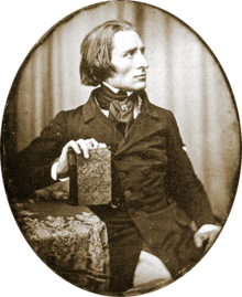 Franz Liszt in 1843, at the height of his musical career (photo from Wikipedia)
