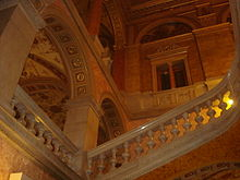 Looking up at the grand staircase (photo by Wikipedia)