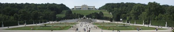 A last look at the Gloriette in the Schönbrunn Palace gardens (photo from Wikipedia)